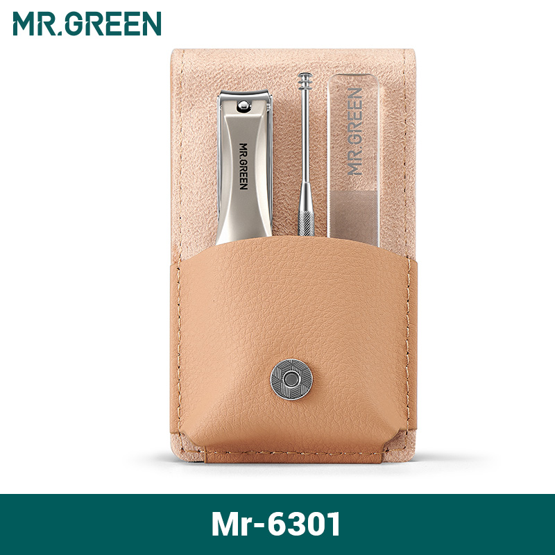 MR.GREEN Manicure Set Surgical Grade Scissors Stainless Nail Clippers Tool Pedicure Set Home Portable Travel Kit Nail Scissor 6