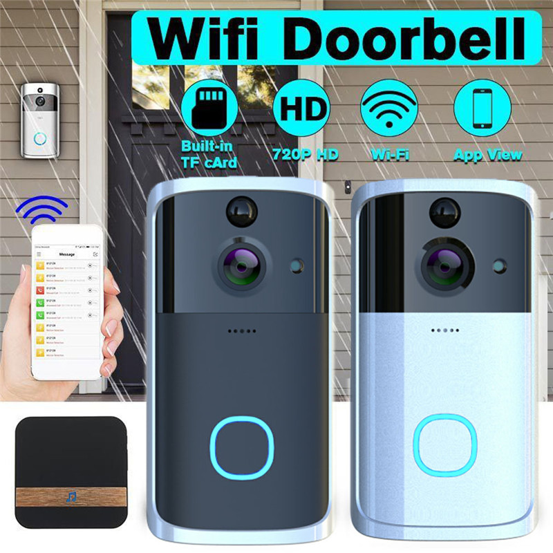 Smart WiFi <font><b>Doorbell</b></font> Camera Video Wireless <font><b>Remote</b></font> Door Bell CCTV Chime Phone APP image