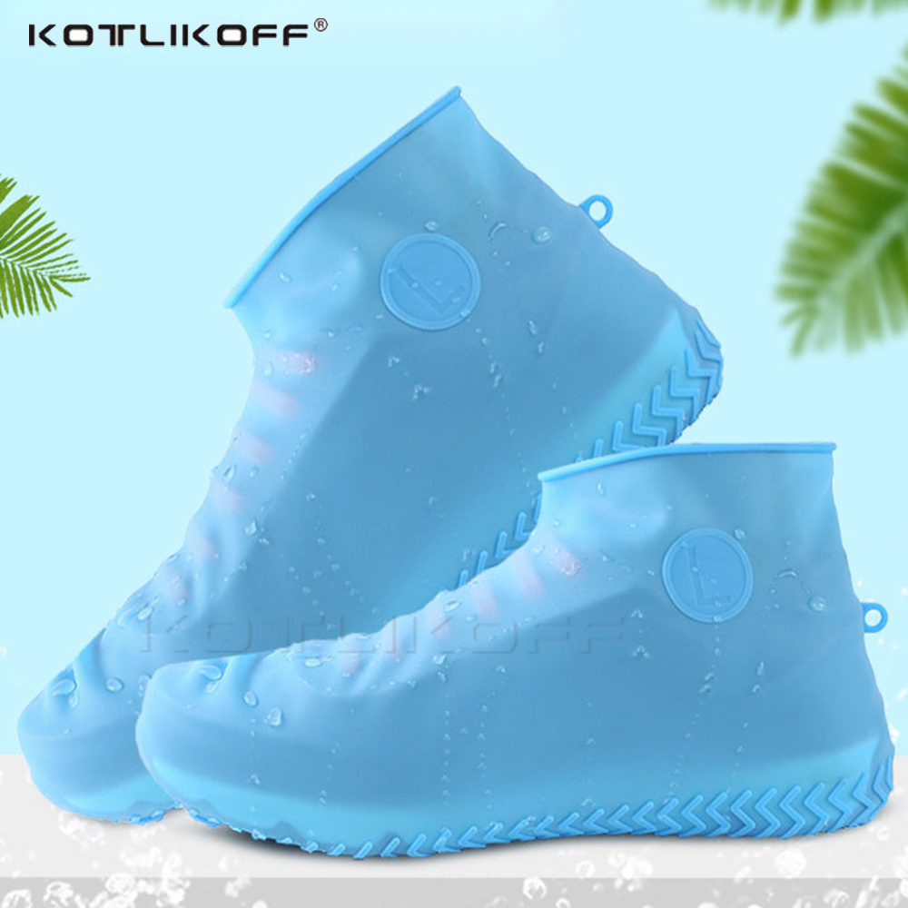 KOTLIKOFF Reusable Silicone Waterproof  Shoe Cover Unisex Waterproof Rain Shoes Covers For Indoor Outdoor Rainy Days Overshoes