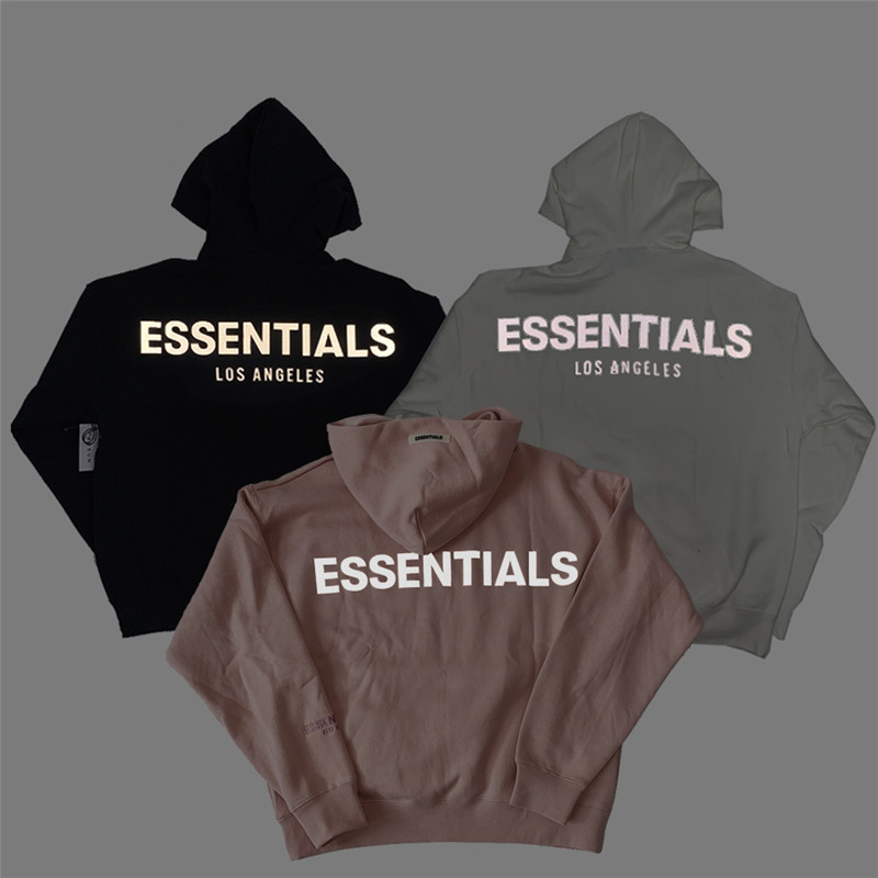 Reflective Essentials Boxy FOG Hoodie Men Women 1:1 High Quality Essentials Pullover Sweatshirt Skateboard Fashion Hoodie