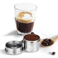 Icafilas crema 커피 필터 illy machine 용 캡슐 재사용 가능한 스테인레스 스틸 탬퍼 카페 포드 컵 리필 형 커피 바구니
