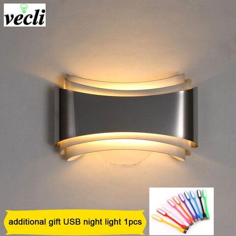 moderna lampada de parede led para o quarto 5 w arandela sala estar ac85 265v