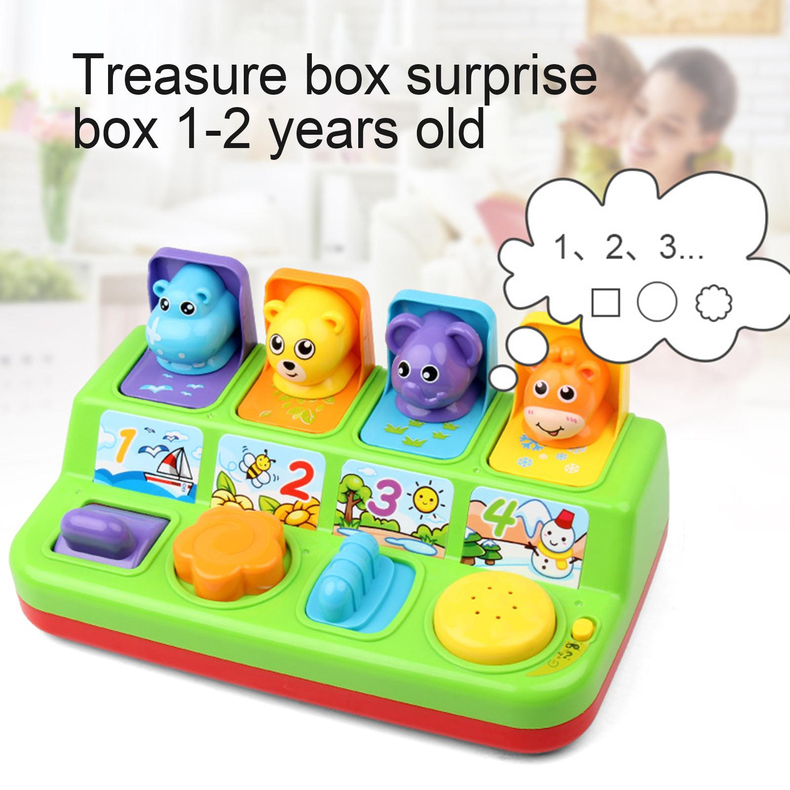Cute Cartoon Animal Shape Peekaboo Pop-Up Interactive Toys with Music Kids Gifts Parent-child Interactive Educational Games Toys