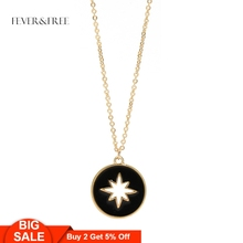 Fever&Free 2019 Women Black Pendant Necklace Gold Link Chain Charm Star Female Choker Jewelry Accessories Drop Shipping