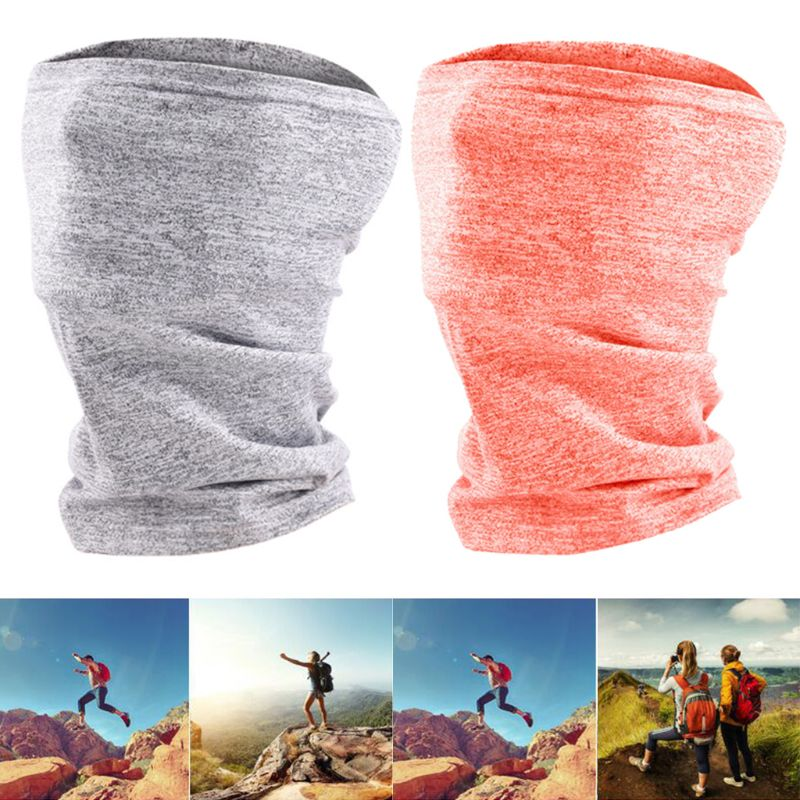 New 2 Pack Neck Gaiter Scarf With 10Pcs 5-Layer Filter Unisex Seamless Stretchy Bandana Outdoor Cycling Sunscreen Face Cover