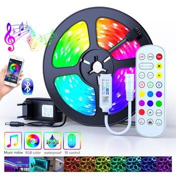 25M 30M 5050 Led Strip RGB DC 12V Flexible Tape Led Ribbon Led Strip Light 5M 10M 15M 20M With Phone Bluetooth APP For Christmas
