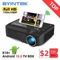 BYINTEK K18 с разрешением 1920x1080 Full HD 1080P мини портативный игровой ЖК-светодиодный 3D-проектор (опционально Android 10 TV BOX для смартфона)