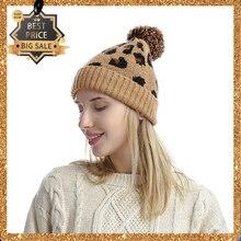 Зимняя женская шапка толстые теплые модные шапки для девочек