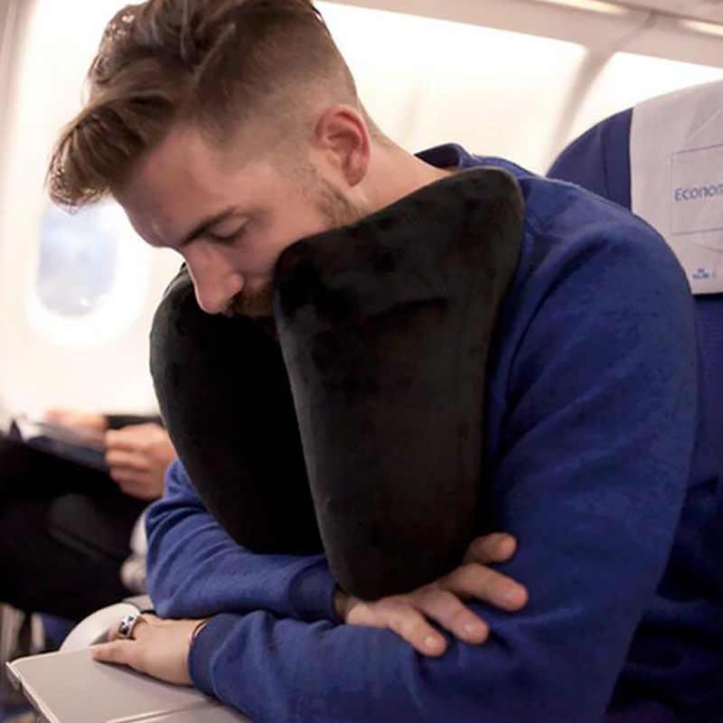 Yeni H şekli şişme seyahat yastığı katlanır hafif nap boyun yastık araba koltuğu ofis uçak uyku yastık