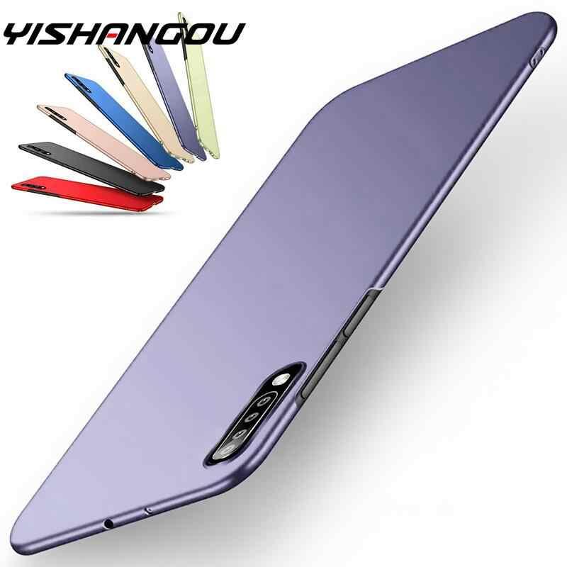Ultra Tipis Matte Tahan Guncangan Tipis Hard PC Cover untuk Samsung Galaxy S20 FE Note20 Ultra 10 A51 A71 A70 A50 a31 A21S S10 S9 S8 Plus