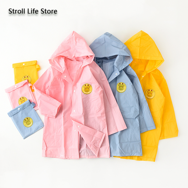 Long Raincoat Kids Boys and Girls Yellow Baby Rain Coat Waterproof Suit Rain Poncho Jacket Windbreaker Capa De Chuva Gift Ideas