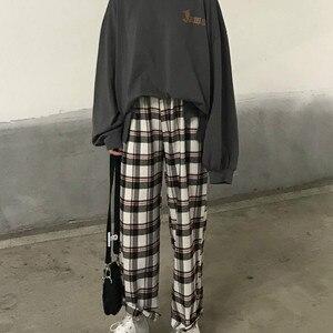 Image 2 - Pajama Sets Printed Thin Daily Outwear Chic Trendy Long Sleeve Womens Korean Style Ulzzang Couples Kawaii Homewear Loose Elegant