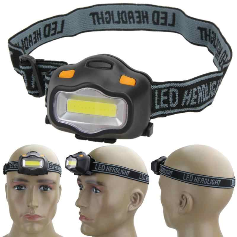 12 Mini COB LED Headlight Outdoor Lighting Head Lamp For Camping Hiking Fishing Reading Activities White Light Flash Headlamp