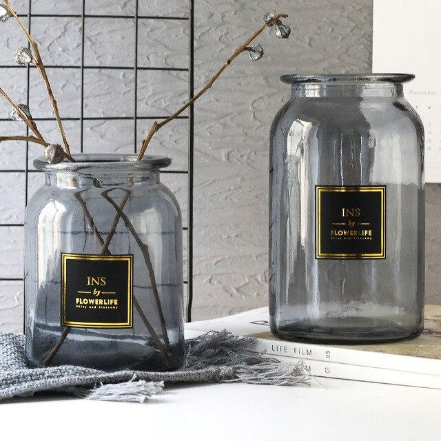 Nordic Design Glass Vase European Decoration Home Flower Vase Flower Arrangement Hydroponic Tabletop Vase For Flower Decoration 4