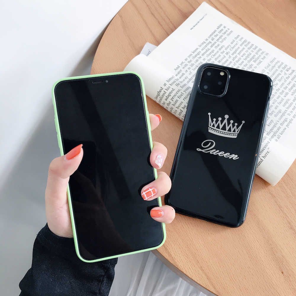 ブランド新 GUEEN 王クラウンソフトケース iphone X Xs XR XsMax 8 プラス 8 7 プラス 7 6 6s プラス 11Pro 11 プロマックス 11 電話カバー