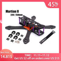REPTIL Mars II 2 220/250 220mm 250mm 4mm Arm Dicke Carbon Faser Rahmen Kit w /PDB Für FPV Racing