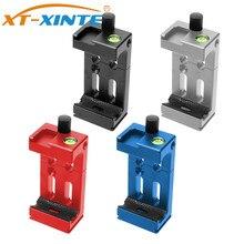 XT XINTE XJ 8 clipe de microfone tripé cabeça suporte do telefone móvel para o telefone lanterna microfone w nível espírito sapato frio