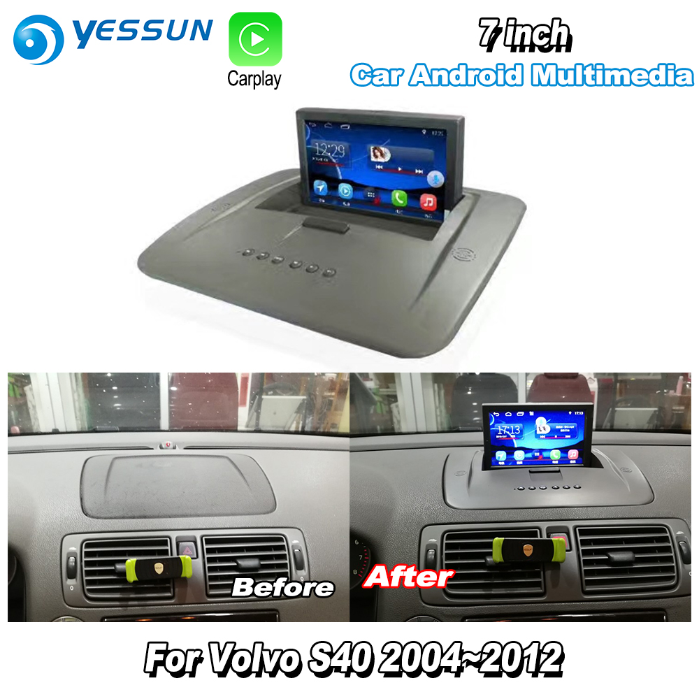 YESSUN For <font><b>Volvo</b></font> <font><b>S40</b></font> 2004~2012 Car Android Carplay GPS Navi maps Navigation Player <font><b>Radio</b></font> Stereo Multimedia HD Screen No CD DVD image