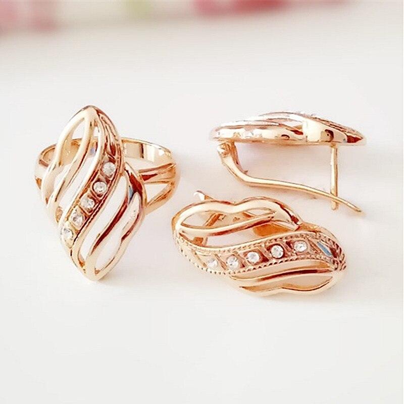 Роскошные Ювелирные наборы, новые модные ювелирные изделия в форме цветка, женские серьги, бриллиантовые наборы|luxury wedding jewelry set|wedding jewelry setsbridal jewelry sets | АлиЭкспресс