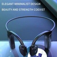 Auriculares deportivos Md04 con Bluetooth, cascos de conducción ósea con gancho de oído inalámbrico, no intrauditivos, resistentes al agua, novedad de 5,0