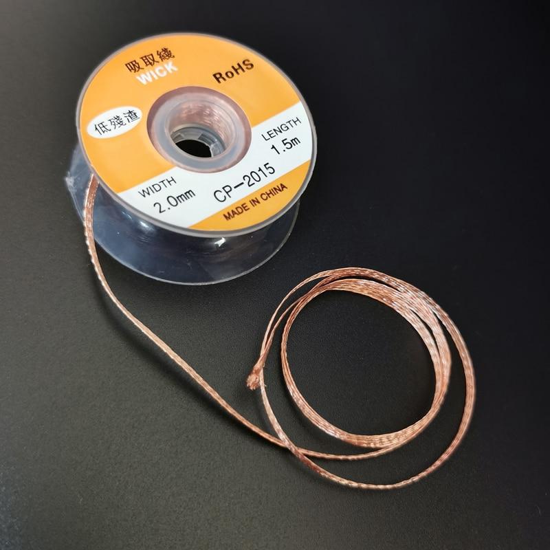 1,5 мм 2 мм 2,5 мм 3 мм 3.5mm1.5M паяльной станции провода оплётка сварочный припой для снятия фитиль провод шнур поток BGA ремонт инструмента