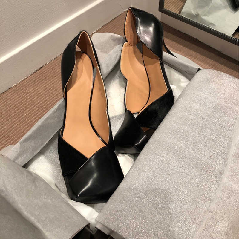Sepatu Hak Tinggi Wanita Square Toe Pompa Wanita Hollow Sapato Feminino 2020 Wanita Sepatu Fashion Buty Damskie Seksi Alas Kaki