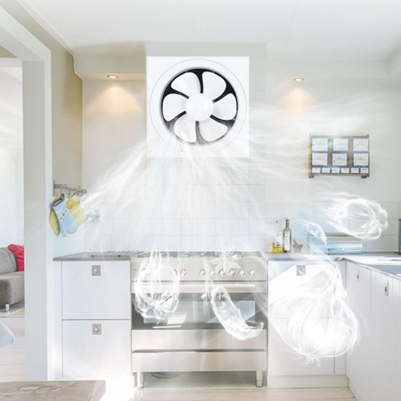 8 inches exaustor pp exhaust fan ventilation kitchen ventilation fan building sturdy living room vent fan shutter moisture proof