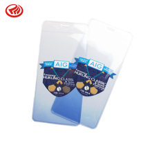 PVC Card Holder Badge Work Card Label Cover Gradient Color Translucent Case Logo Gift(China)