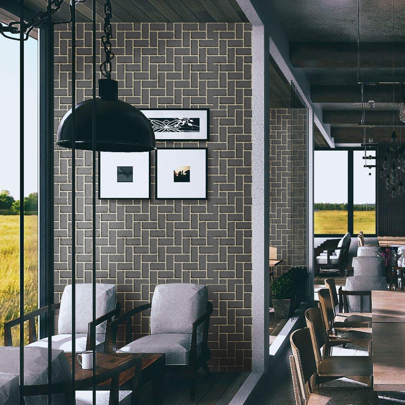 Black Brick Wallpaper 3d Self Adhesive Wall Paper Home Decor Living Room Dining Room Porch Background Decoration Wall Murals
