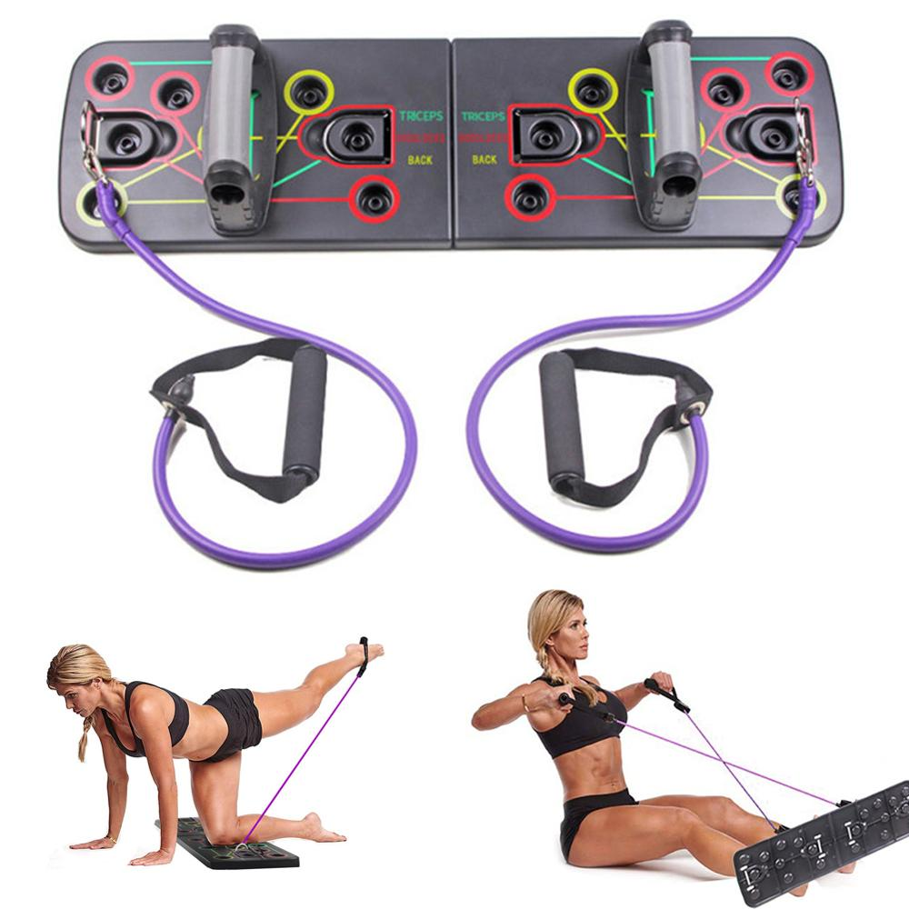 2X Workout Pull Push Up Arm Training Handle Home Fitness Exercise Gym Bar Stands