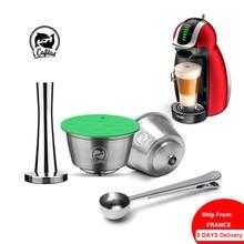 Cápsula de Metal reutilizable de acero inoxidable para máquina de café Dolce Gusto, Compatible con máquina de café Nescafé, filtro rellenable, gotero