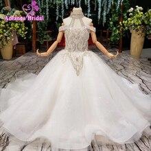 2019 New Bling Bling Flower Girl Dresse For Wedding Party Girls Pageant Dresses Crystlas First Communion Dresses For Little Girl