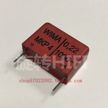 10PCS RED WIMA MKP4 0.22UF 1000V PCM22.5 original new MKP-4 224/1000V P22.5mm audio 224 hot sale 0.22uf/1000v 220nf фото