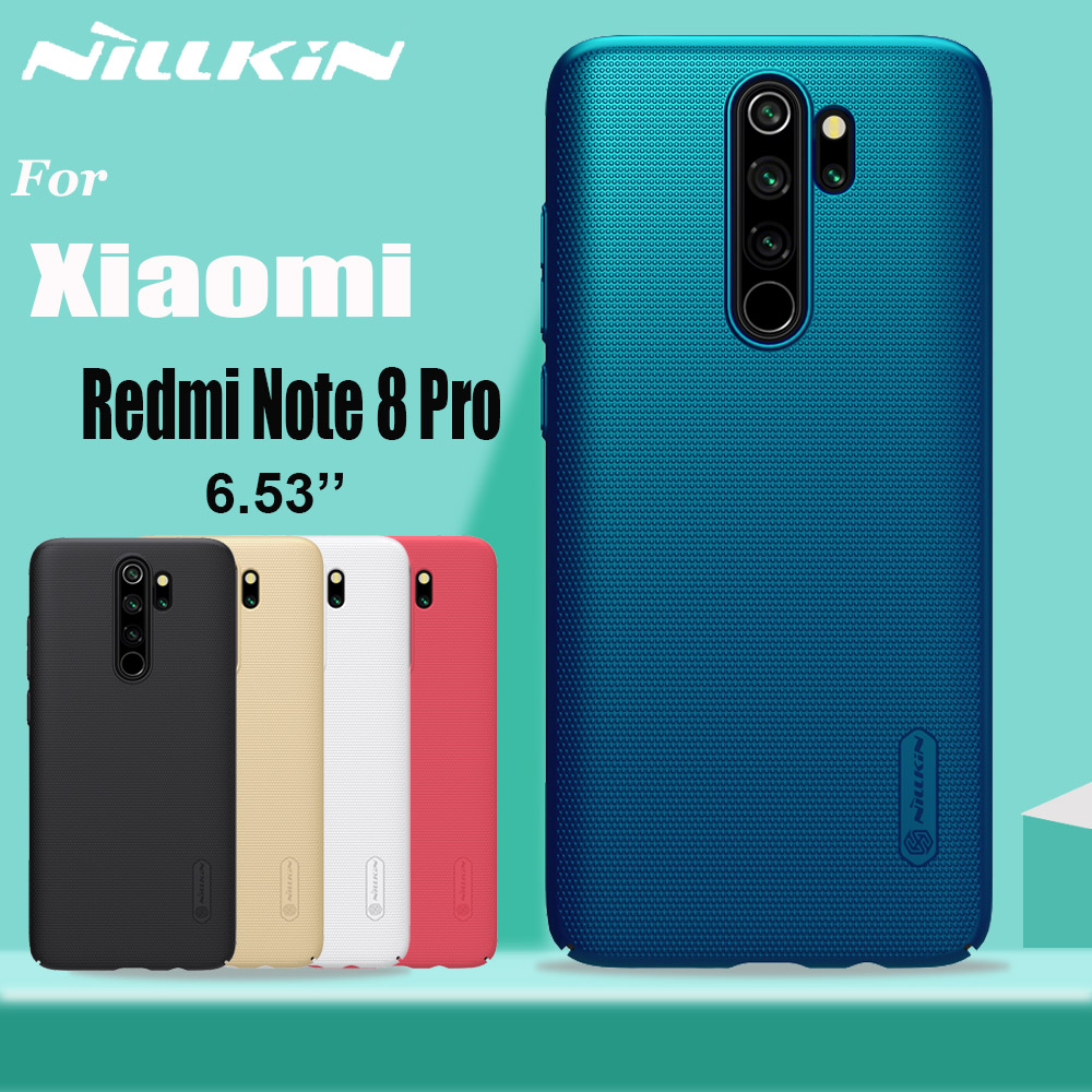 For <font><b>Xiaomi</b></font> <font><b>Redmi</b></font> Note 8T 8 <font><b>7</b></font> Pro Case NILLKIN Frosted Shield Hard PC <font><b>Back</b></font> Full <font><b>Cover</b></font> Case for <font><b>Xiaomi</b></font> Mi 9 SE 9T Pro Mi9 Lite A3 image