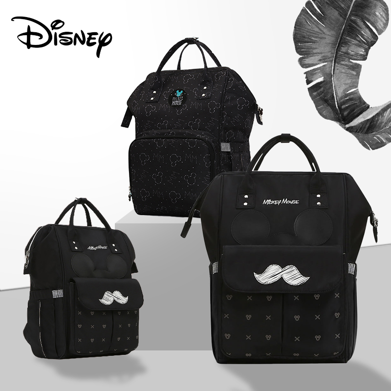 Disney Mickey Minnie Baby USB Diaper Bags Mommy Bag Backpack Travel Waterproof Baby Stroller Bag Mummy Baby Multifunction Bags