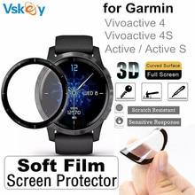 10PCS 3D מעוקל רך מסך מגן עבור Garmin Vivoactive 4/4S/פעיל S מלא כיסוי אנטי שריטות מגן סרט (ללא זכוכית)