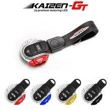 Couvercle de clé intelligent JCW, boîtier de 3/4 boutons en forme de disque de frein, coque avec porte-clés, ceinture, pour MINI Cooper F55 F56 F57 F60