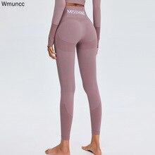 Wmuncc Seamless Legging Sport Women Fitness High Waist Yoga Pants Gym Energy Leggings Workout Running Activewear Sports Solid