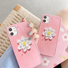Cute Flower Print  Back Cover Luxury Flower Clear Soft Cases For iPhone 7 8 plus XS 11 Pro X Cartoon Back Phone Cases Shells flower print tissue cover