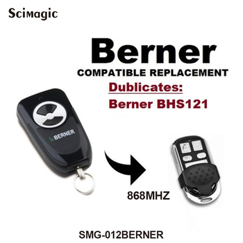 BERNER BHS121 garage door gate remote control 868.3MHz BERNER garage remote command clone фото