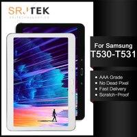 Para samsung galaxy tab 4 10.1 t530 t531 t535 SM-T530 tablet pc display lcd tela com toque de vidro digitador assembléia com quadro