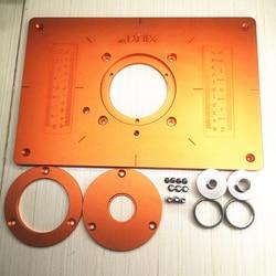 Aluminiowa płytka stołowa routera maszyna do przycinania odwróć płytkę z tuleją i pokrywą na stół warsztatowy elektryczny przewodnik do frezowania drewna Części do maszyn do obróbki drewna    -