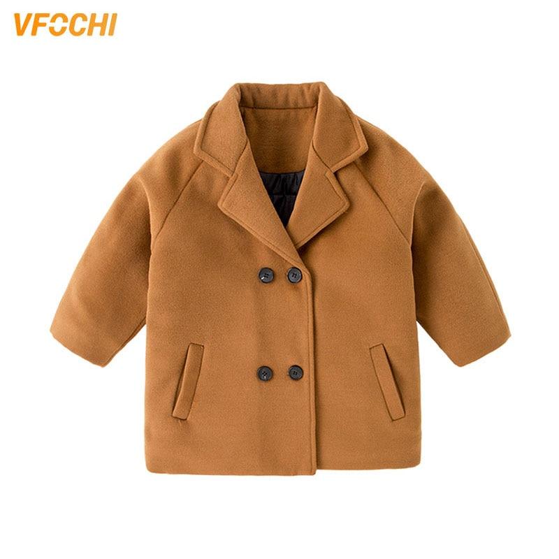 VFOCHI 2021 Boys Wool Coat 5 Color Long Jacket Autumn Winter Kids Windproof Coat Children Clothing Warm Boys Wool Coat Outerwear 1