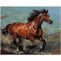 Картина по номерам DIY Прямая поставка 40x50 50x65 см картина маслом бегущая лошадь животные холст свадебное украшение искусство картина подарок