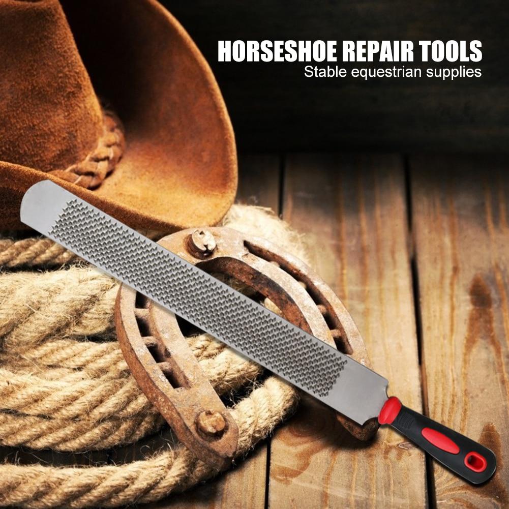 14 Inch Iron Horseshoe File Horse Hoof Rasp Trimming File Farrier Horseshoe Repair Tools Stable Equestrian Supplies