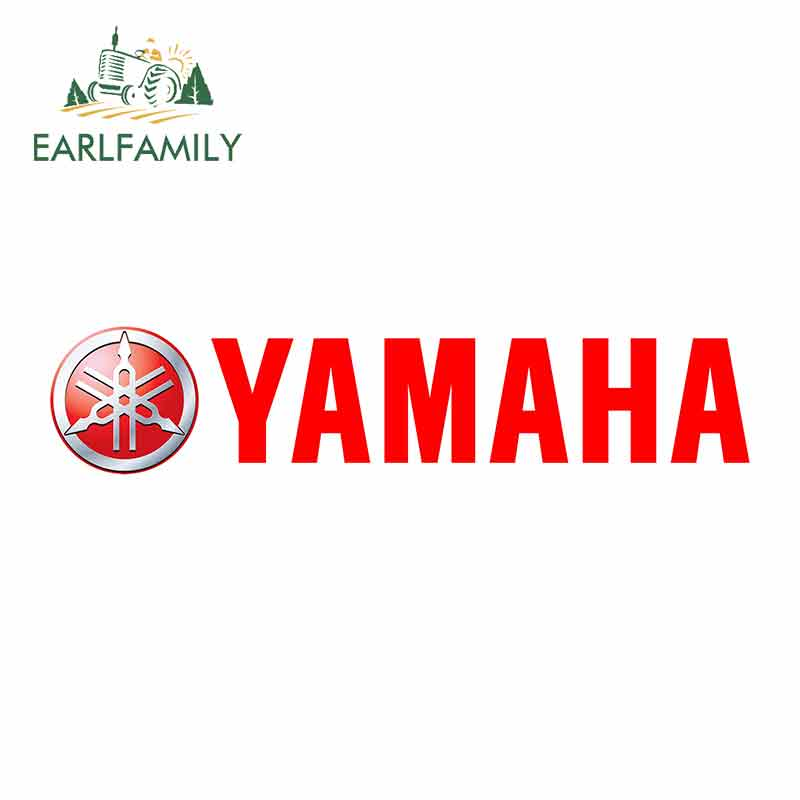 EARLFAMILY 13cm X 3.2cm Funny Car Stickers Waterproof Vinyl Decals For YAMAHA Graphics Bumper Windows JDM Laptop Car Wrap