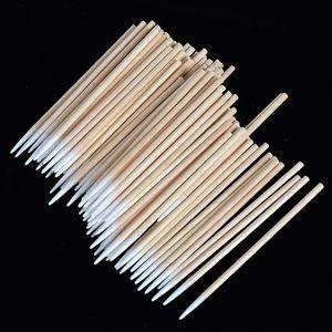 100 pcs Disposable Ultra-small Brushes Swab Lint Free Micro Brushes Eyelash Extension Tool Lash, Glue Removing Tool