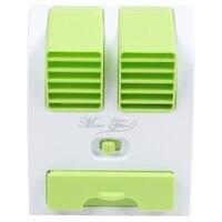 Ev Aletleri'ten Fanlar'de Mini Usb küçük Fan soğutma taşınabilir masaüstü çift Bladeless klima