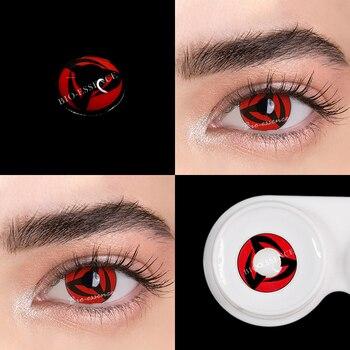 1pair(2pcs) 1 Year Cosplay Sharingan Contact Lenses for Eyes Colored Red Uchiha Sasuke Hatake Kakashi Anime Accessories - 6