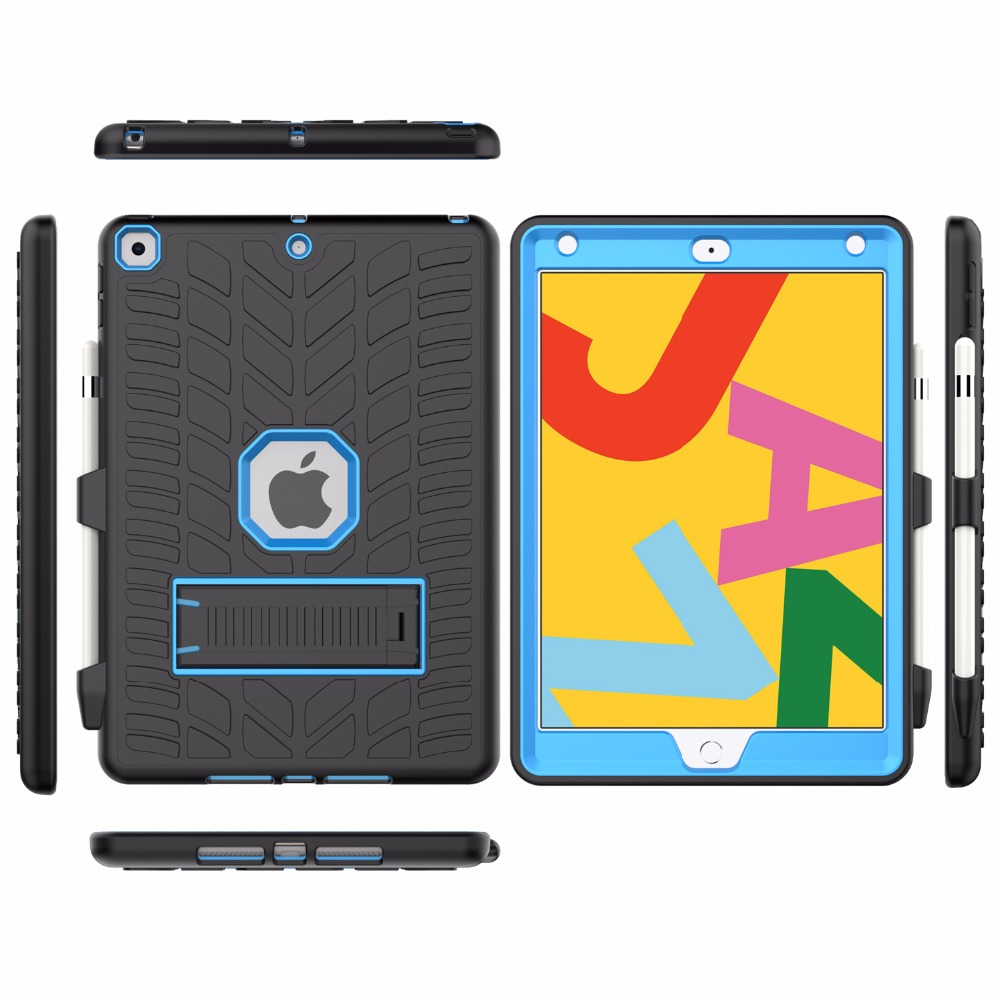 Case Pattern For Holder Pencil with 2020 Hard iPad 10.2 8th Shockproof Generation Tire